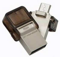 Kingston - Mem�ria Pen Drive - Kingston DTDUO/8GB 8Gb USB+OTG pendrive